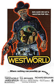 1973. Dirigida y escrita por Michael Crichton. Reparto:  Yul Brynner, Richard Benjamin, James Brolin