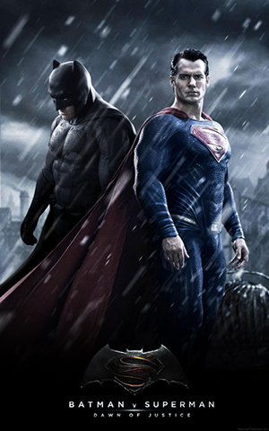 2016, Batman v. Superman: Dawn of Justice Dirección: Zack Snyder Guión: David S. Goyer, Chris Terrio Fotografía: Larry Fong Música: Hans Zimmer, Junkie XL Reparto: Ben Affleck, Henry Cavill, Amy Adams, Jesse Eisenberg, Gal Gadot, Diane Lane, Laurence Fishburne, Jeremy Irons, Holly Hunter